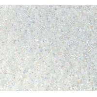 11/0 Miyuki Delica Seed Beads, Rainbow White, 5 Gram Bag