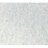 11/0 Miyuki Delica Seed Beads, Rainbow White Pearl, 7.2 Gram Tube