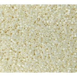 11/0 Miyuki Delica Seed Beads, Eggshell Luster