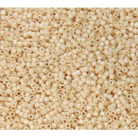 11/0 Miyuki Delica Seed Beads, Opaque Beige Luster, 5 Gram Bag