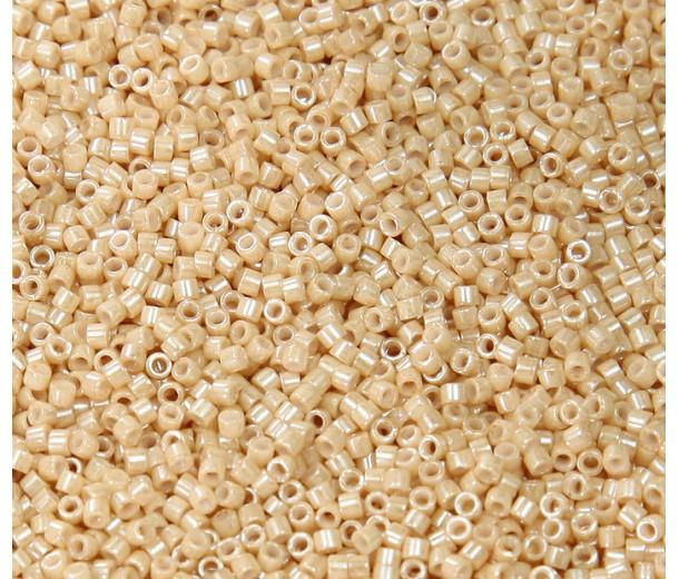 11/0 Miyuki Delica Seed Beads, Golden Tan Luster, 7.2 Gram Tube
