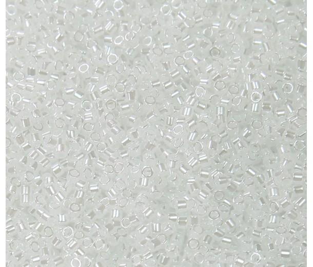 11/0 Miyuki Delica Seed Beads, White Pearl Ceylon, 5 Gram Bag