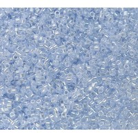 11/0 Miyuki Delica Seed Beads, Sky Blue Lined Crystal