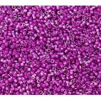 11/0 Miyuki Delica Seed Beads, Medium Plum Lined Crystal