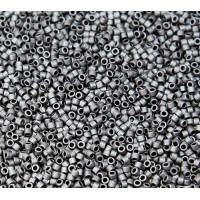 11/0 Miyuki Delica Seed Beads, Matte Charcoal Luster, 5 Gram Bag