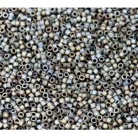 11/0 Miyuki Delica Seed Beads, Rainbow Matte Dark Grey, 7.2 Gram Tube