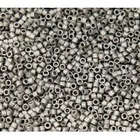 11/0 Miyuki Delica Seed Beads, Matte Metallic Nickel Plated, 5 Gram Bag