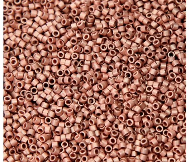 11/0 Miyuki Delica Seed Beads, Matte Copper Plated, 7.2 Gram Tube