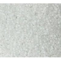11/0 Miyuki Delica Seed Beads, Matte White, 6.6 Gram Tube