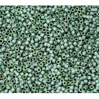 11/0 Miyuki Delica Seed Beads, Matte Rainbow Sage Green, 7.2 Gram Tube