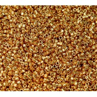 11/0 Miyuki Delica Seed Beads, Galvanized Bright Gold, 5 Gram Bag