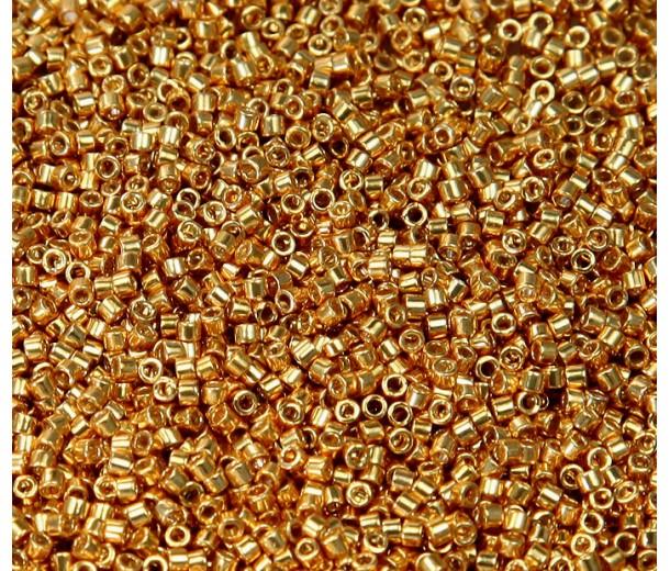 11/0 Miyuki Delica Seed Beads, Galvanized Yellow Gold, 7.2 Gram Tube