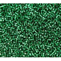 11/0 Miyuki Delica Seed Beads, Silver Lined Emerald