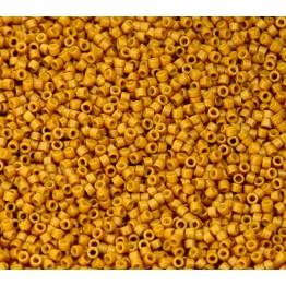 11/0 Miyuki Delica Seed Beads, Dark Pumpkin