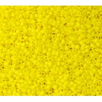 11/0 Miyuki Delica Seed Beads, Opaque Yellow, Bulk Bag