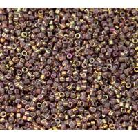 11/0 Miyuki Delica Seed Beads, Metallic Rainbow Gold, 7 Gram Bag