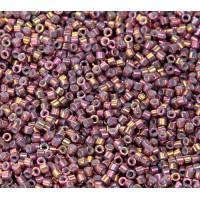 11/0 Miyuki Delica Seed Beads, Metallic Rainbow Golden Berry