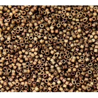 11/0 Miyuki Delica Seed Beads, Metallic Matte Dark Copper