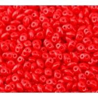 2x5mm Matubo SuperDuo 2-Hole Seed Beads, Opaque Red