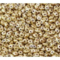 2x5mm Matubo SuperDuo 2-Hole Seed Beads, Opaque Luster Picasso, 10 Gram Bag