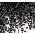 3mm Miyuki Bugle Seed Beads, Opaque Black, 10 Gram Bag