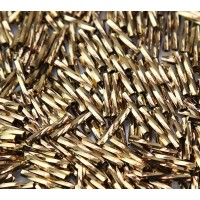 12mm Miyuki Twisted Bugle Seed Beads, Metallic Bronze, 10 Gram Bag