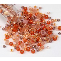 Toho Seed Bead Mix, Piichi Peach, 5.5 Inch Vial