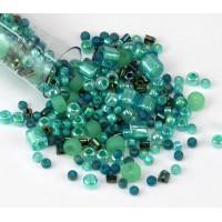 Toho Seed Bead Mix, Seafoam Green, 5.5 Inch Vial