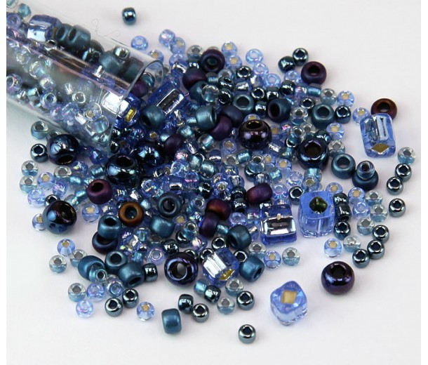 Toho Seed Bead Mix, Yumi Periwinkle, 5.5 Inch Vial