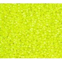 11/0 Miyuki Delica Seed Beads, Luminous Chartreuse