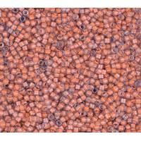 11/0 Miyuki Delica Seed Beads, Luminous Sea Coral, 5 Gram Bag