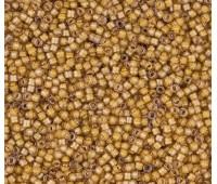 11/0 Miyuki Delica Seed Beads, Luminous Caramel Yellow, 7.2 Gram Tube