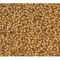 11/0 Miyuki Delica Seed Beads, Luminous Caramel Yellow, 5 Gram Bag