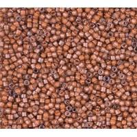 11/0 Miyuki Delica Seed Beads, Luminous Guava Brown, 7.2 Gram Tube