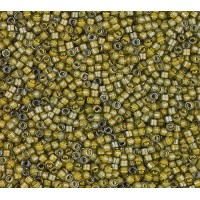11/0 Miyuki Delica Seed Beads, Luminous Muddy Green