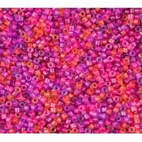 11/0 Miyuki Delica Seed Beads, Luminous Pinks Mix, 7.2 Gram Tube