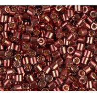 8/0 Miyuki Delica Seed Beads, Galvanized Dark Berry