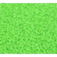 11/0 Miyuki Delica Seed Beads, Matte Lime Green