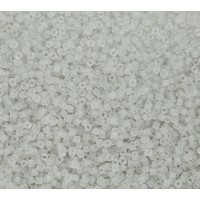11/0 Miyuki Delica Seed Beads, Matte Grey Mist, 7.2 Gram Tube