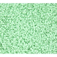 11/0 Miyuki Delica Seed Beads, Matte Cool Mint, 5 Gram Bag
