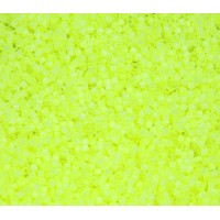 11/0 Miyuki Delica Seed Beads, Neon Chartreuse Satin Inside Dyed, 5 Gram Bag