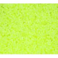 11/0 Miyuki Delica Seed Beads, Neon Chartreuse Satin Inside Dyed, 5 Gram Bag