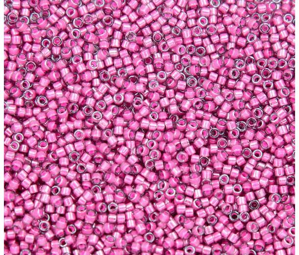 11/0 Miyuki Delica Seed Beads, Luminous Jazzberry, 5 Gram Bag