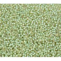 11/0 Miyuki Delica Seed Beads, Luminous Sage Lined Amber, 5 Gram Bag