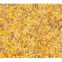 11/0 Miyuki Delica Seed Beads, Luminous Pineapple Mix, 5 Gram Bag