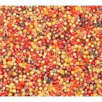 11/0 Miyuki Delica Seed Beads, Luminous Harvest Mix, 5 Gram Bag