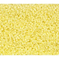 11/0 Miyuki Delica Seed Beads, Duracoat Light Lemon Yellow, 5 Gram Bag