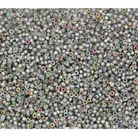 11/0 Miyuki Delica Seed Beads, Vitrail Coated Matte Crystal, 5 Gram Bag