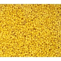 11/0 Miyuki Delica Seed Beads, Matte Glazed School Bus Yellow, 7.2 Gram Tube