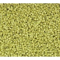 11/0 Miyuki Delica Seed Beads, Matte Glazed Pear Green, 5 Gram Bag